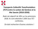 Statistiques 2018- les Transports Collectifs Transfrontaliers (TCT)