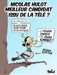 A gauche, le préféré des Français, c'est Nicolas Hulot...