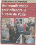 "Presse - La Montagne - ""Marsac en lutte pour garder sa Poste"" - 04-04-09"