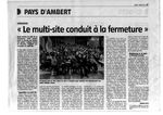 "Presse - La Gazette - ""Le multi-site conduit à la fermeture"" - 03-03-11"