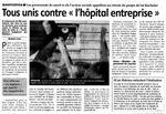 """Presse - La Montagne - """"Tous unis contre l'hopital entreprise """" 06-03-09"""