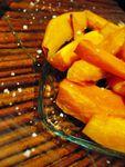 Frites de potimarron à la fleur de sel