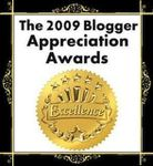 The 2009 Blogger Appreciatition Awards! un très joli prix