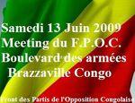 Meeting du Front de Partis de l'Opposition Congolaise Samedi 13 juin 2009