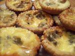 Mini tartelettes poires/ roquefort