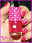 Vernis Hello Kitty rose flashy