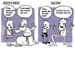 Blagues : avant, maintenant (en anglais)...