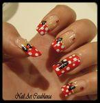 Minnie Inspired Nail Art