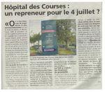 Article du Courrier des Yvelines du 28 mai