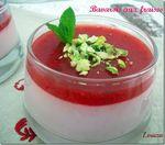 Mousse à la fraise façon bavarois en verrines