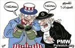 A.Palestinienne/TV - Caricature diabolisant les Américains et les Israéliens responsables de la division du Soudan