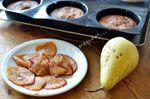 Gâteaux fondants aux poires caramélisées