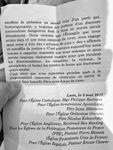 Des tracts anti-FN distribués à la messe ce dimanche dans les églises de Lyon