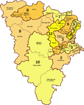 Politique : Carte électorale de 2012, le canton de Montfort l'Amaury (yvelines) coupé en deux.