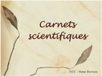 Carnet scientifique : diaporama