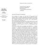 le sénateur Todeschini écrit au président Sarkozy