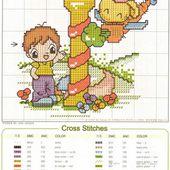 ♥Meus Gráficos De Ponto Cruz♥: Alfabeto Infantil: Crianças e Bichinhos em Ponto Cruz (I-R)