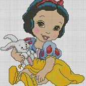 ♥Meus Gráficos De Ponto Cruz♥: Disney: Princesas Baby em Ponto Cruz (2)