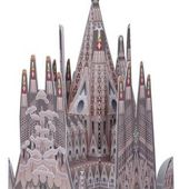 Easy-To-Build Sagrada Familia Cathedral Miniature Paper Model by Hanae Nozaka