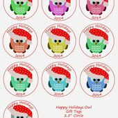 Freebie Friday Christmas Holiday Gift Tags - Happiness is cross stitching
