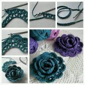 Do you like flowers yarn made of crochet? I think those were beautiful