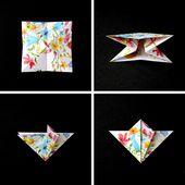 DIY ORIGAMI DIAMOND DECORATIONS.