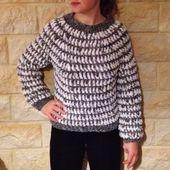 Un pull bien chaud pour l&#39&#x3B;hiver ! Tuto Gratuit et en français