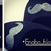 Enaba'Blog: My Mustache Shoes - DIY
