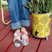 iLoveToCreate Blog: Fabric Scrap Shoes
