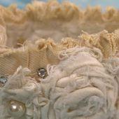Tutorials: Decayed Elegance Cuff Bracelet & tattered fabric supplies