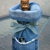 Make it: Denim Wine Bags - recycled