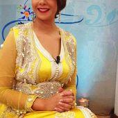 Caftan marocain jaune orné 2014