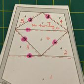 from blank pages...: Celestial Star QAL: Guest Blogger: Cristy Fincher & Paperless Paper Piecing