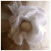 My Heart's Song: Fabric Flower - Tutorial