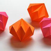 Origami diamond ornaments