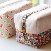 Block Zipper Pouch Tutorial ~