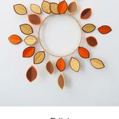 Ohoh Blog - diy and crafts: How to make a fall wreath with scrap paper
