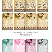 Sweetly Scrapped: The Best Is Yet To Be Free Printable Tags, with Butterflies and....