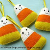 Bugs and Fishes by Lupin: How To: Felt Candy Corn Ornaments