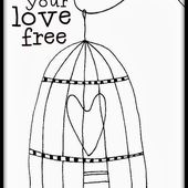 Set your Love free- freebie design