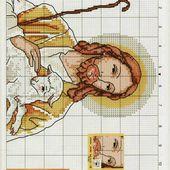 ♥Meus Gráficos De Ponto Cruz♥: Jesus, o Bom Pastor em Ponto Cruz