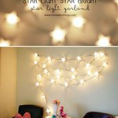 Star Light Star Bright Light Garland