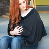 DYI Modern Nursing Shawl (SEW ONE LINE!) - The Coterie Blog   Coterie [koh-tuh-ree] A group of people who associate closely.