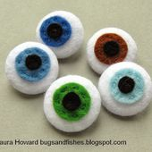Bugs and Fishes by Lupin: How To: Felt Eyeball Buttons for Halloween
