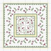 Rainburst Embroidery: Freebie Biscornu Pattern - Cherries