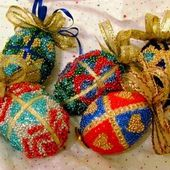 Beaded Faberge Eggs Tutorial