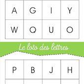 [ jeu à imprimer ] Loto des lettres - Cycle 1, Cycle 2