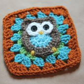 Guest Post: Repeat Crafter Me - Owl Granny Square Pattern - Petals to Picots