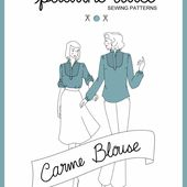 pauline alice - Sewing patterns, tutorials, handmade clothing & inspiration: Carme Blouse Pattern