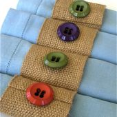 Napkin Rings from Jute Webbing